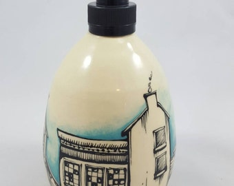 Cityscape soap dispenser