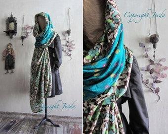Hooded Scarf, Oversized Scarf, OOAK Scarf, Boho Scarf, Gypsy Shawl, Plus Size Clothing, Extra Large Scarf, Bohemian Shawl, infinity scarf