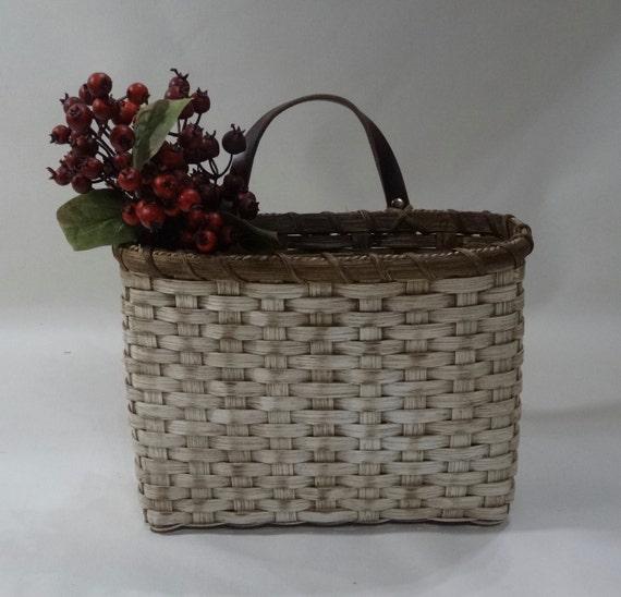 mail basket wall basket painted handwoven basket. Black Bedroom Furniture Sets. Home Design Ideas