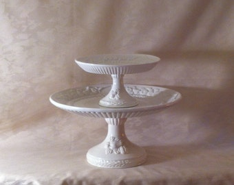 Vintage WHITE ITALIAN Cake Stands/Wedding Cake/Cupcakes