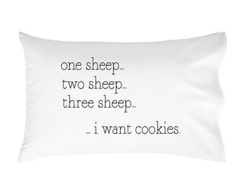 Counting Sheep Pillow Case Naps Childs Pillow Kids Pillow One sheep two sheep pillowcase Baby Child Kids Room PillowCase Toddler Pillow Case