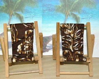 Small Brown Batik Cell Phone Chair Mamakohawaii