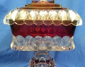 Vintage Westmoreland Cranberry Candy Dish with Lid