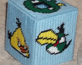 Angry Bird Tissue Box Cover 2 Plastic Canvas Pattern