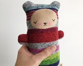 Kawaii Teddy Bear Stuffed Animal Sleepy Plushie Sugarloaf Sweater MEDIUM