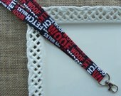 Fabric Lanyard - A DOGS Day on Black