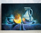 Oil Painting on Canvas, Still life, Original, One of kind