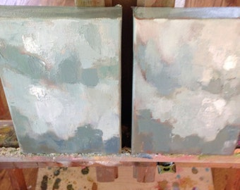 One of a kind Oil Painting //Moonlit// 5 x 7 // small painting
