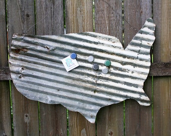 USA - Cut from Corrugated Metal