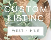 Custom Listing Request for Madison Shaw