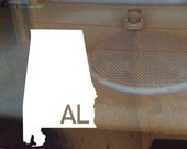 Alabama Car Decal, State Decal, Alabama Decal, Laptop Decal, Laptop Sticker, Car Sticker, Decal, Vinyl Decal, AL, Sticker, Any State, Bama