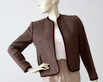 1970s Evan Picone wool jacket, women's open blazer
