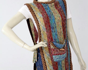 vintage tunic sweater, 70s faded glory knit sleeveless top