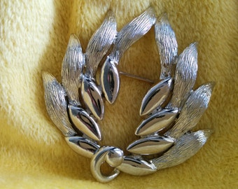 Vintage Silver Monet Brooch Pin