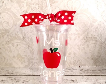 Personalized Teacher Acrylic Tumbler, Teacher Gift, Teacher Tumbler, Personalized Teacher Cup, Teacher Cup, Personalized Tumbler Teacher