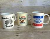 Retro Set of Texas Mugs - Set of Three