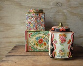 Three Floral Tins Instant Collection Daher Tins
