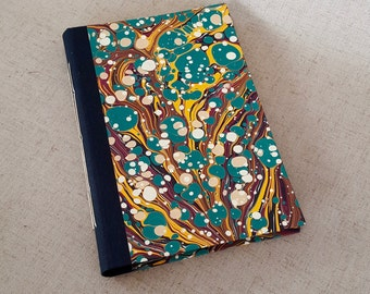 Modern Marbled Composition Book  in Turquoise - Small Journal