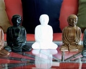 Meditating Buddha Monk Figurine - 5 color choices