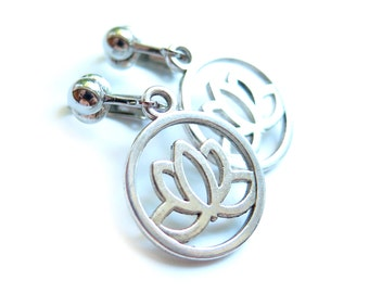 Lotus Clip-On Earrings