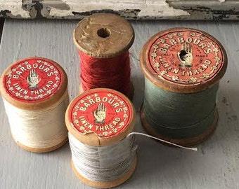 Set of 4 spools of thread - Barbour brand - English