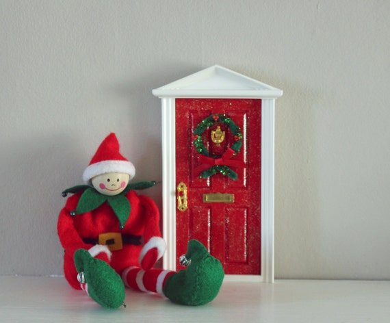 Items similar to christmas elf fairy door on etsy for Elf fairy doors