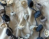 CROCHET PATTERN Bohemian Bells Necklaces,crochet necklace, flower necklace,bells,gradient necklace,DIY,crochet pattern, nest ring, boho chic