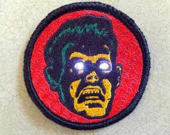 Horror Guy LED Wearable Light Up Pin Patch