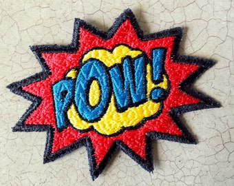 POW! Textured Embroidered Patch