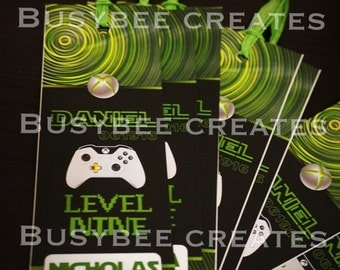 Personalized Xbox Bookmarks- 24ct