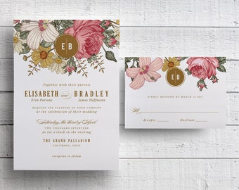 Garden Wedding Invitations, Spring Wedding Invitations, Outdoor Wedding Invitations, Floral Invitations, Floral Wedding, Spring