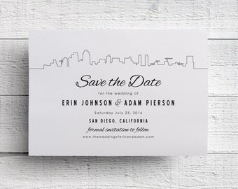 San Diego Wedding Save the Date - Sample