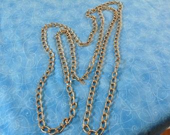 Vintage Crown Trifari Gold Chain Necklace, Trifari necklace, chain necklace