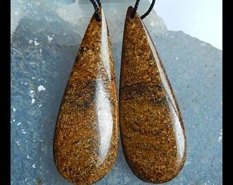 Pyrite Gemstone Earring Bead,43x15x5mm,11.0g