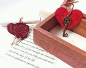 1st Anniversary gift for him or her, Personalized Wood anniversary gift, 5th anniversary gift, Love box