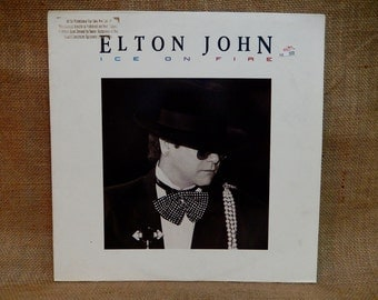 Elton John - Ice on Fire - 1985 Vintage Vinyl Record Album