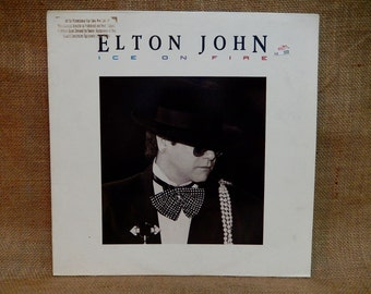 Elton John - Ice on Fire - 1985 Vintage Vinyl Record Album