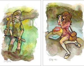"Sam + Suzy ""Moonrise Kingdom"" Portrait Set"