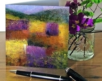 Blank art greetings card, notecard, suitable for all occasions, Autumn landscape themed, from original painting