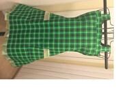 Green with Ruffle Full Bib Apron