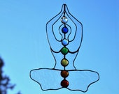 Chakra Meditation Stained Glass Suncatcher
