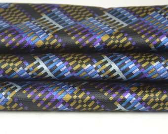 Retro Blue Gold Blue Purple Silver Black Fabric by the yard
