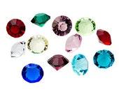1 Birthstone 5mm Gem crystals SINGLE Charms for Floating Living Memory Lockets DIY