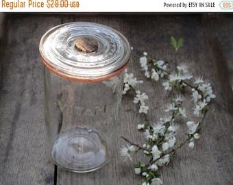 1 antique  french canning jar , VITAM,  large Size