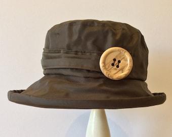 Chocolate  PU Rain Hat