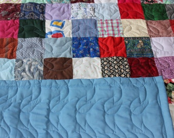 Lap/ Throw Size Quilt - Scrappy Patchwork - READY TO SHIP!!!