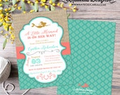 mermaid baby shower invitation bridal shower 1365 wedding hen party bachelorette high tea rehearsal dinner engagement shabby chic invitation