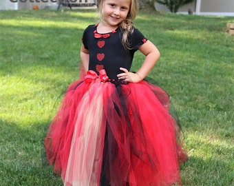Queen of Hearts Tutu Dress-Red-Queen of Hearts Tutu-Alice in Wonderland-Red Witch