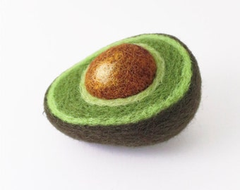Needle Felted Avocado Ornament
