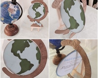 Globe-Welcome to the world- baby shower Invitation